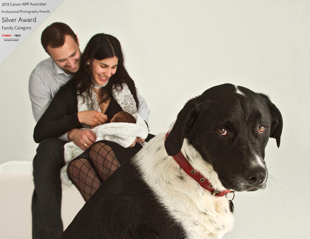 family portrait with dog-newborn photo hobart-zanzo.jpg