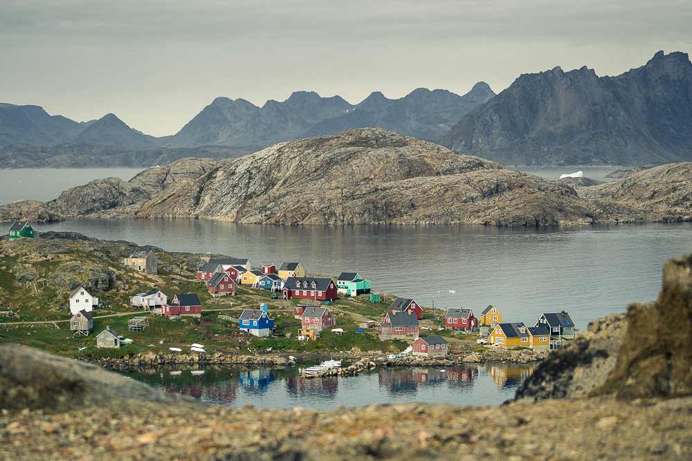 That tiny, magic, remote little village again - Kulusuk, Greenland. It doesn't even look real, but I promise you, people live here! This is about as nice as the weather ever gets (it was roughly 7 degrees C when I shot this in late August), and the locals have to hunt for beasts to survive. Seal is the most common nourishment they are able to rely upon, and for most of the year the bay is ice and the landscape is white.