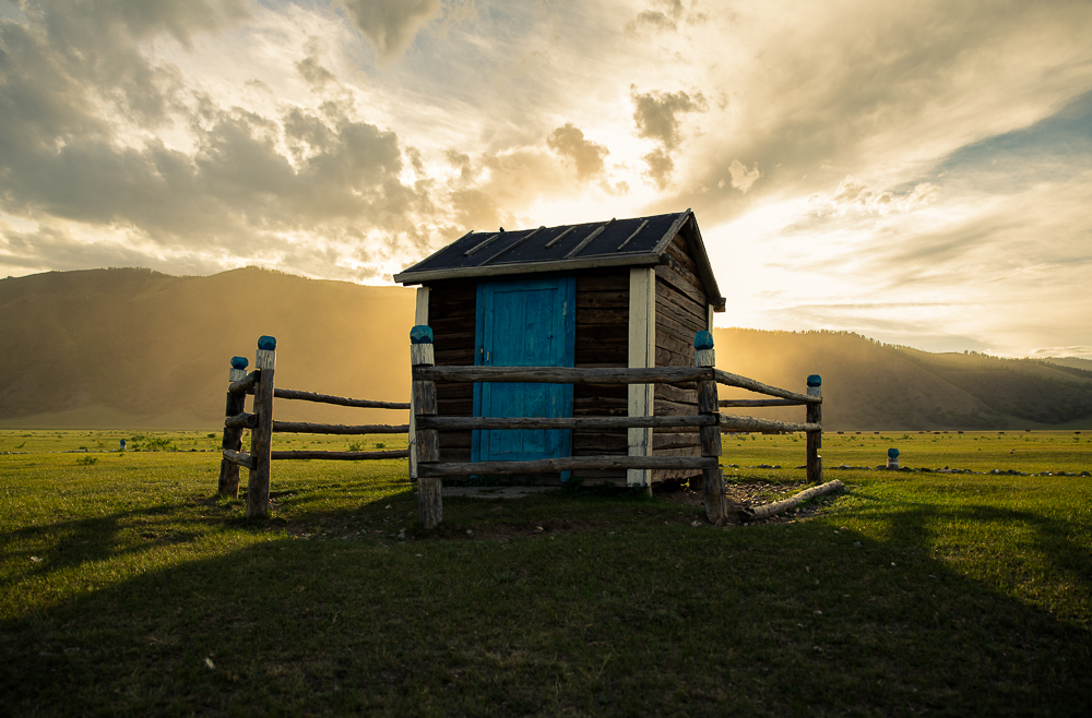 Shortly before sunset, I found this quaint little hut next to a river in Mongolia. I asked our guide what it was, and she could only manage to convey 'scientist house'. I assumed it had something to do with testing the river, but may never know for sure... And it doesn't matter, because it made for a beautiful photo regardless.