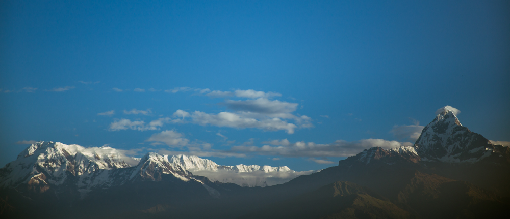 Annapurna Mountain Range, on a clear morning from Phokara. Awesome.