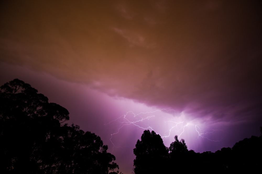 The strange moods of a summer sky, lightning over Ballarat, Victoria.