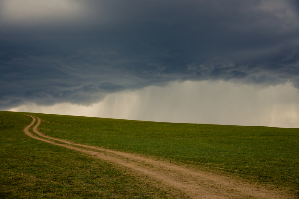 Further evidence of the captivating weather of Mongolia. Each of us has traversed a stormy road at some point in our lives, for some reason they don't always seem as beautiful as this, at the time though...