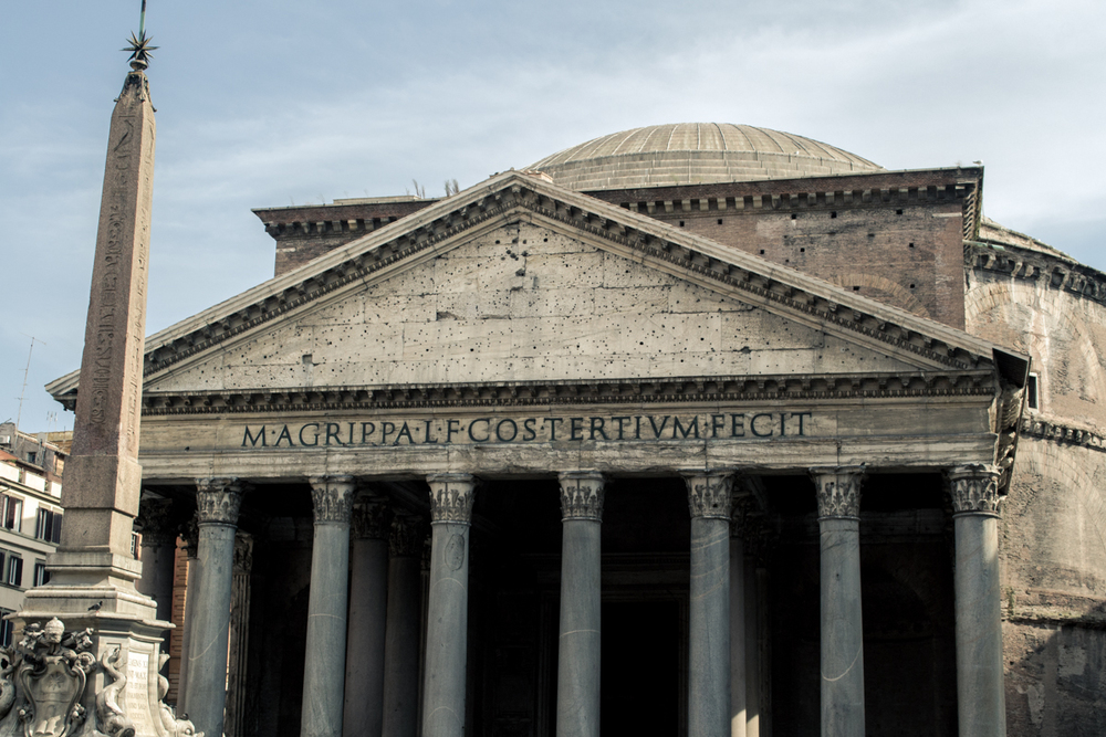 The Pantheon. One of the most well preserved ancient structures in Rome. The colossal feat of engineering and logistics has been in constant use ever since its construction, over 2000 years ago.
