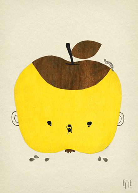 Apple Papple Poster avFine Little Day
