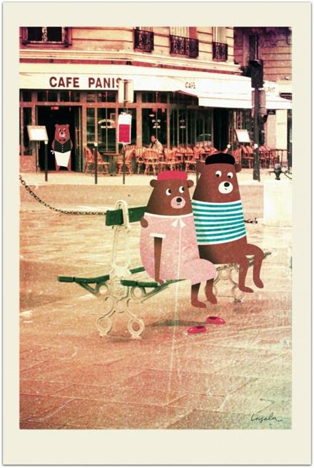 Bears in Paris avIngela P Arrhenius
