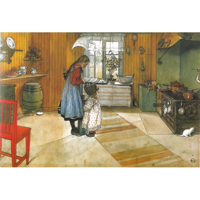Crédit : Carl Larsson, La cuisine © Nationalmuseum Stockholm. Foto från Petit Palais sida.