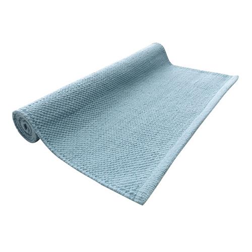 Prisvärd matta  i ljusblå bomull, 129 kr.