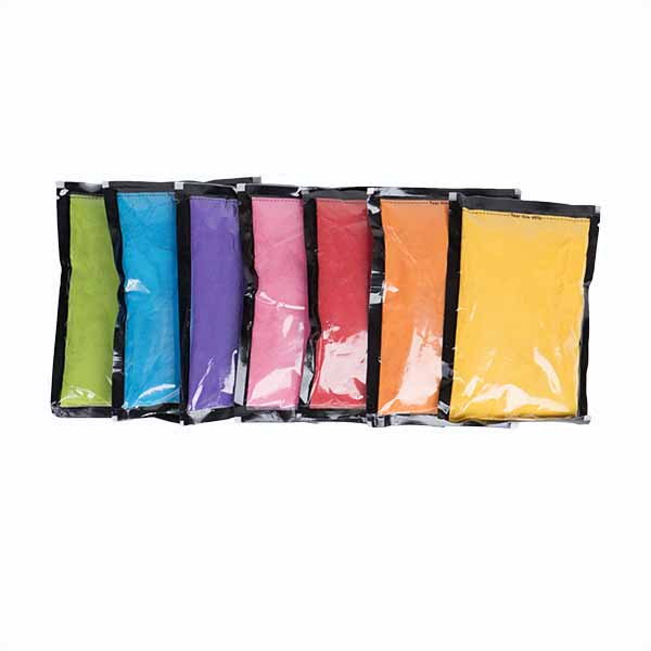 Colors we will be using are yellow, orange, red, pink, purple, light blue and light green. -