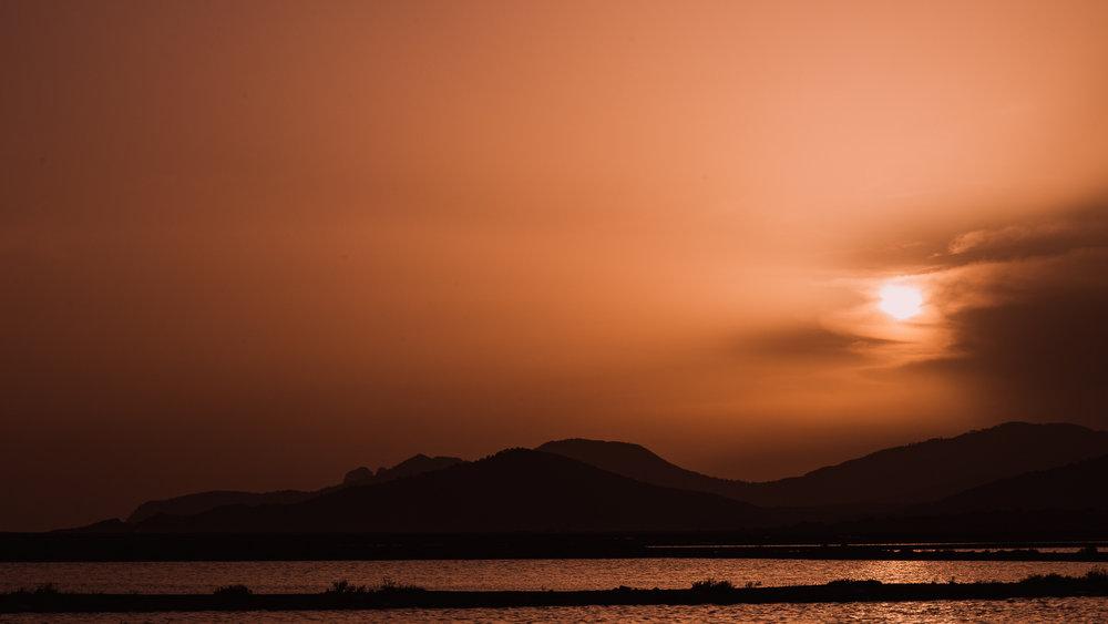 Salt lakes in Ibiza, shot last year during sunset