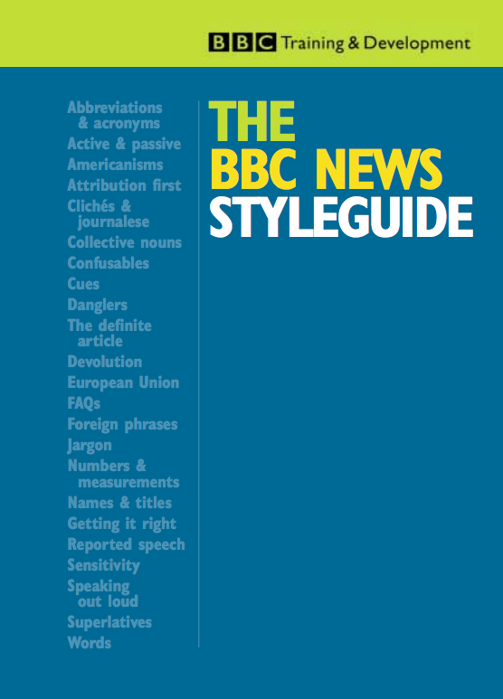 The BBC News Styleguide