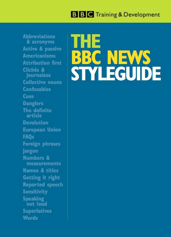 The BBC News Styleguide