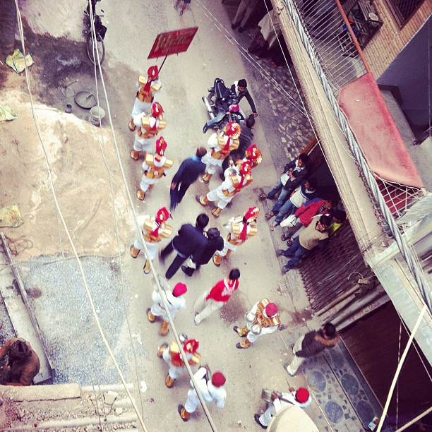 Street weddings, tis the season! (at Shahapur Jat Market)