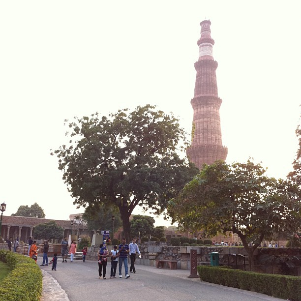 Qutub Minar. Discovering ancient civilization.
