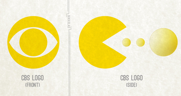 CBS Logo - Imagined differently.     via  BuzzFeed