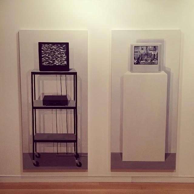 Cynthia Daignault. Installed. #watchingyou under way. #10011 #contemporaryart #art #painting #conceptual