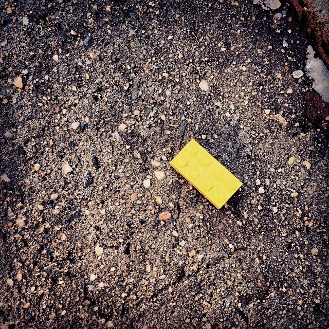 Found a piece of a #Lego on the street in #Chelsea. Could it have been a part of a #spaceship at some point in its previous life? @behindtheshadows