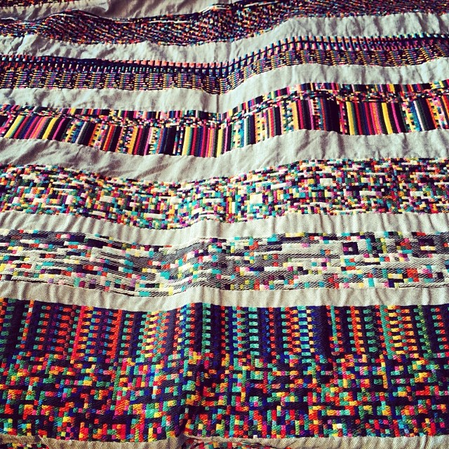 Studio visit with Phil Stearns! Remarkable #textiles as glitch data visualizations! #art #tech #design