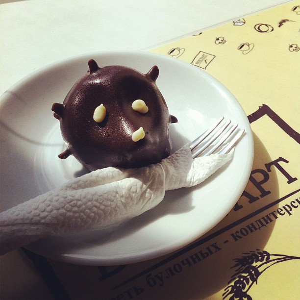 Chocolate- potato/hedgehog!! :-) (Taken with  Instagram  at Бон Тарт)