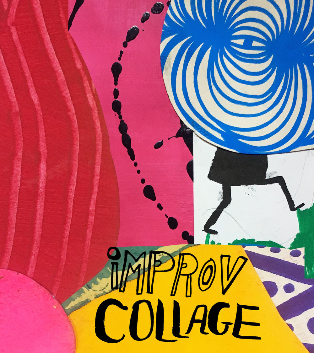 Get your hand movin', coloring, cutting paper, gluing, and surprising your self with collage….check out the class  here!