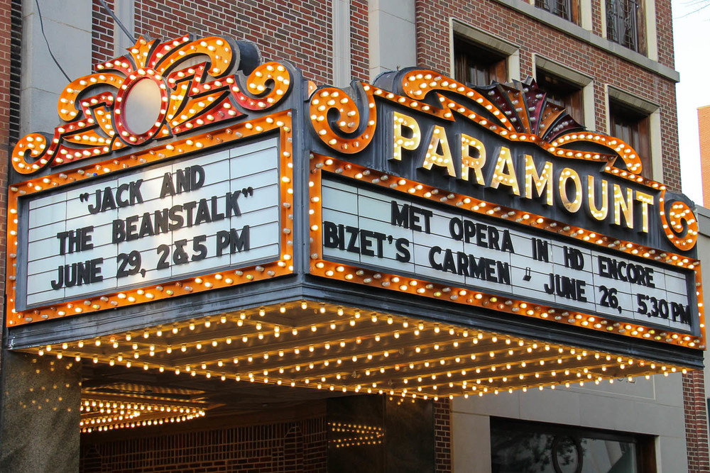 Photo of the Paramount Theater marquee