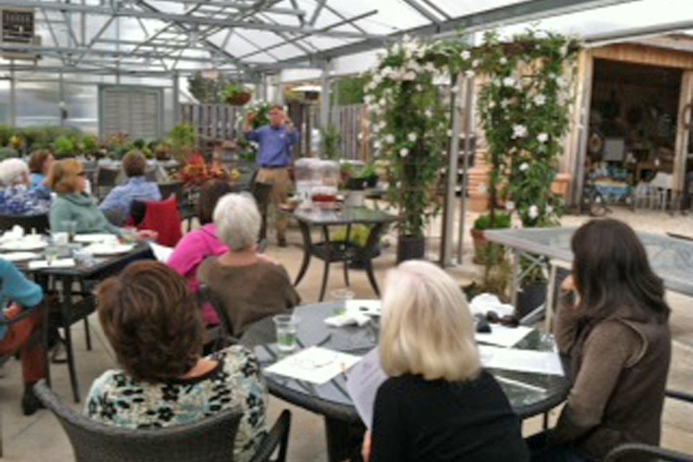 [Dan Gregg speaking to Garden Group members]