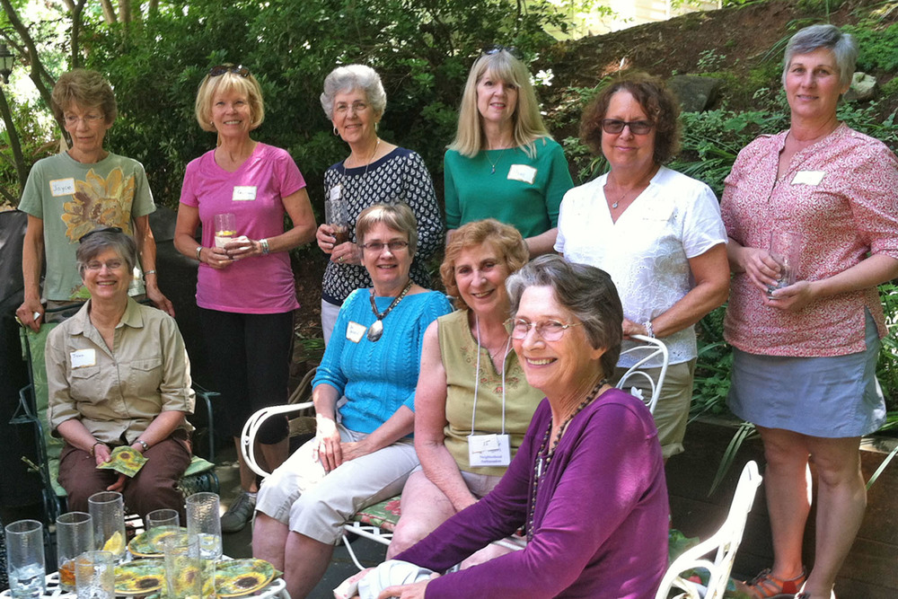 [Charlottesville Newcomers Club members at Plant Swap]