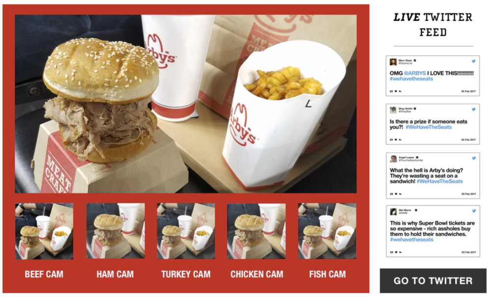 Multiple live streams from sandwich cams.