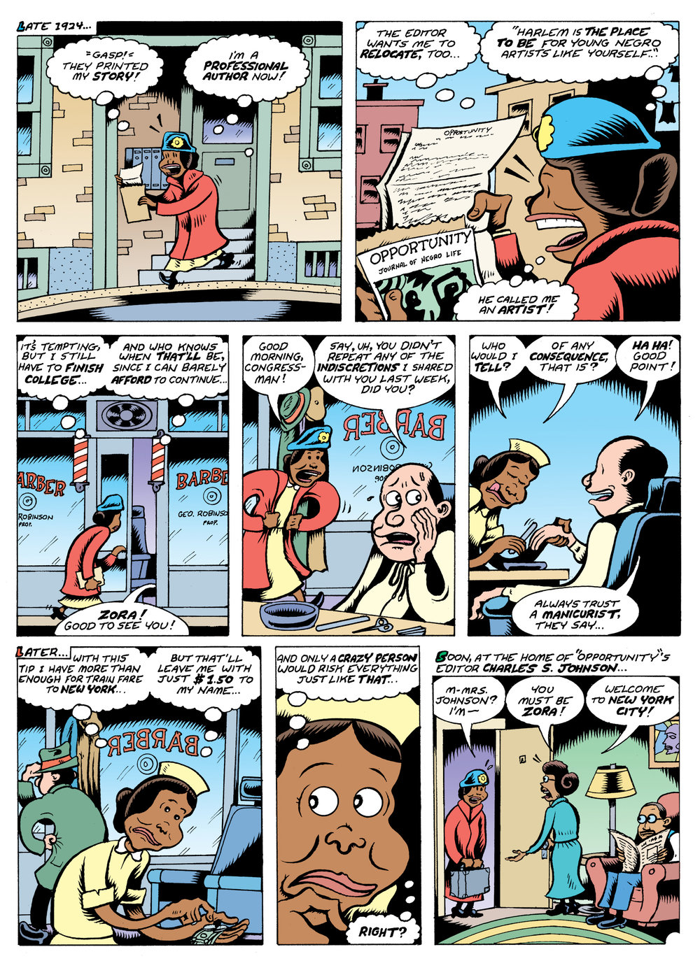 Fire!! The Zora Neale Hurston Story by Peter Bagge