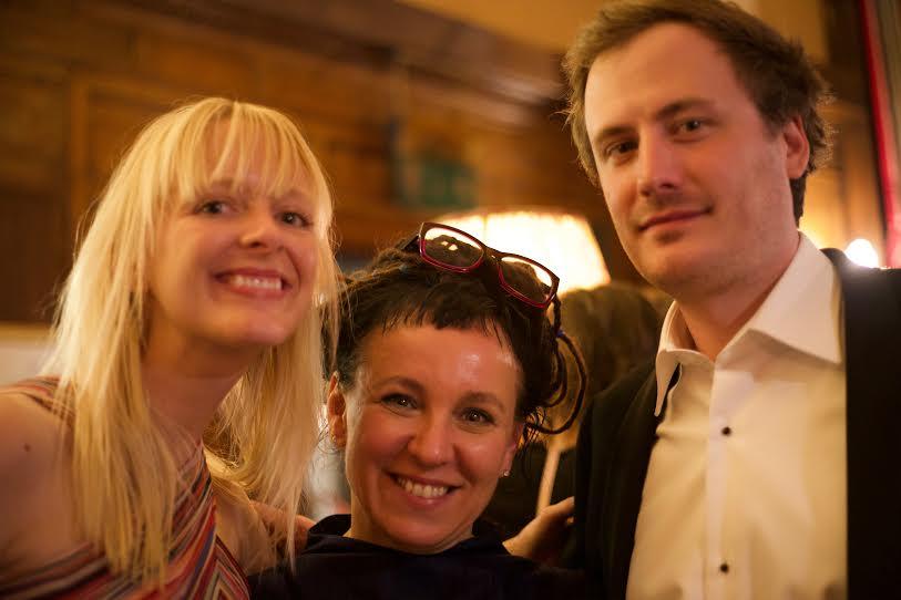 Jennifer Croft (L), translator and Man Booker International Prize winner