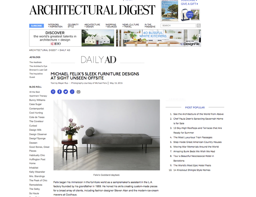 Architectural Digest,  link here