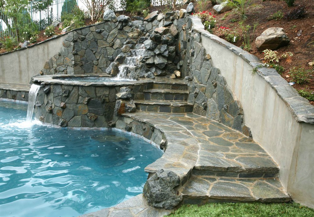 Bradbury Ca Hillside Pool Spa Mountain View Pools