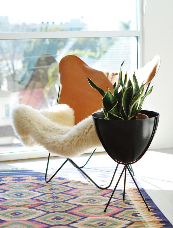 mid century modern design phoenix - retro bullet planters - hip haven
