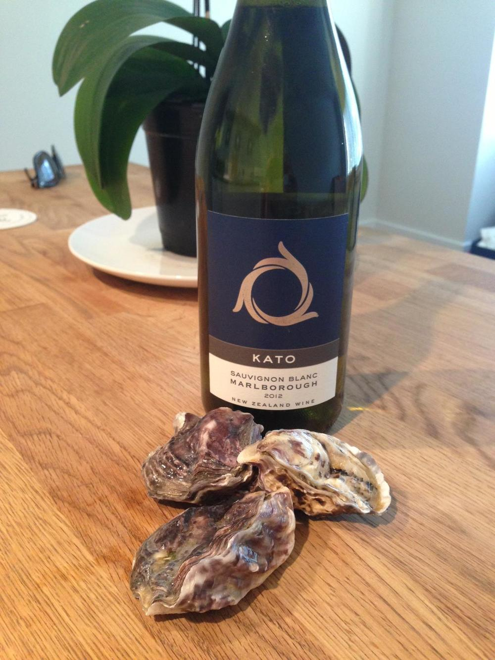 Kato Sauvignon Blanc pairs well with the Kaipara Oyster