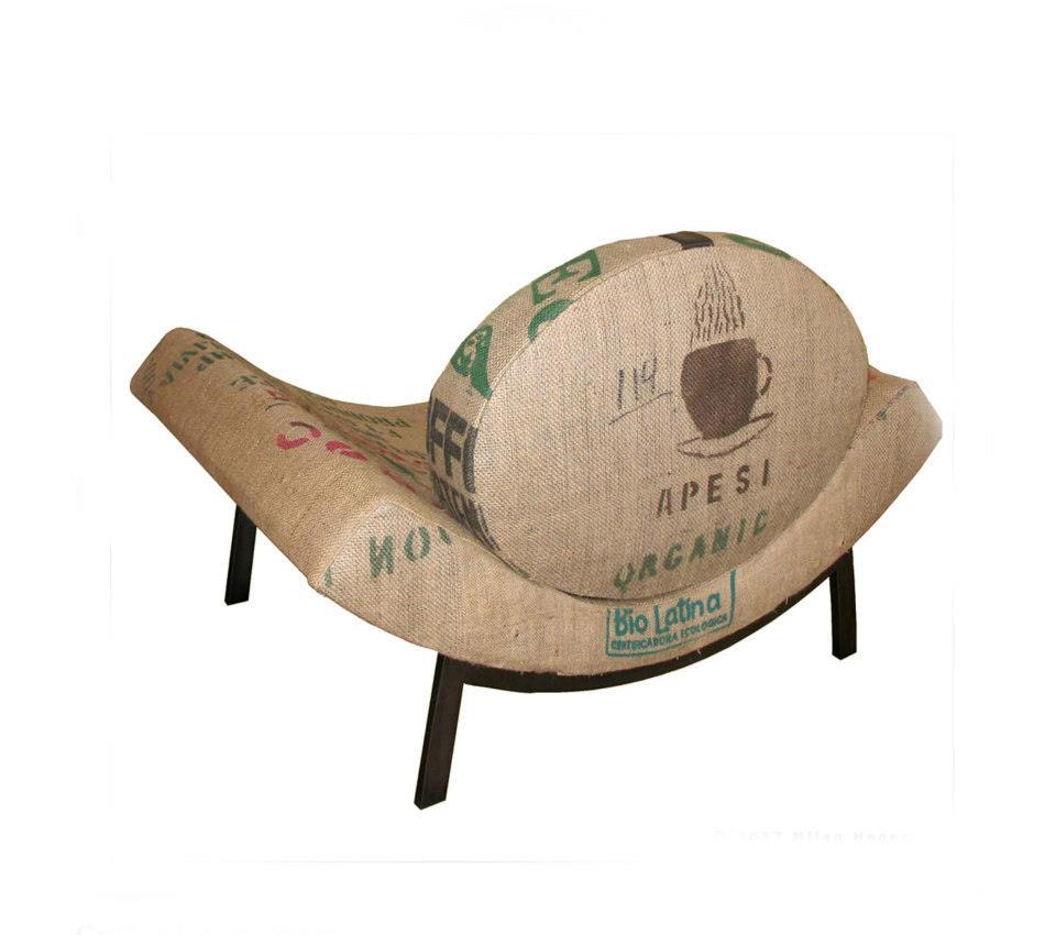 """Coffee Bean Chair 38""""W x 28""""H x 26""""D"""