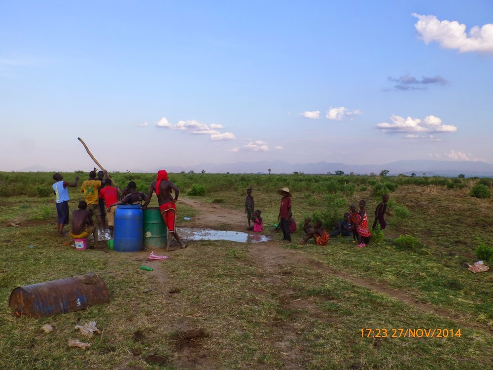 Photo 2: Drilling teams commence drilling on the first borehole in the sparse Kilosa Masai community of Ngaite