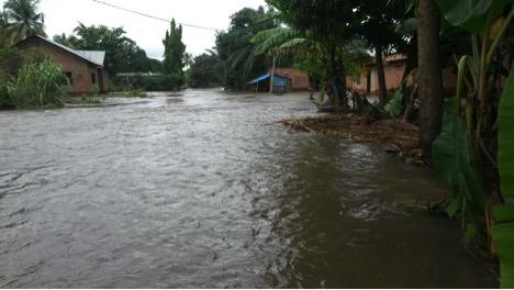 Floods in Lumemo village