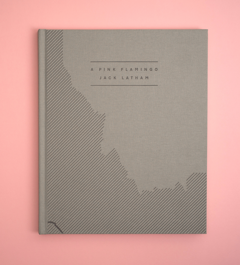 A Pink Flamingo, Jack Latham photobook. Photos taken across America following the Oregon trail. Cover.