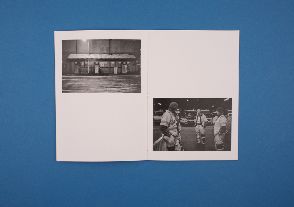 Beyond Work Zines by Photographer Curtis James. Black and white photographs from 'refuse collector' zine.