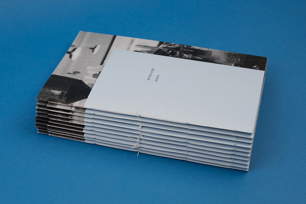 Beyond Work Zines by Photographer Curtis James. A stack of zines.