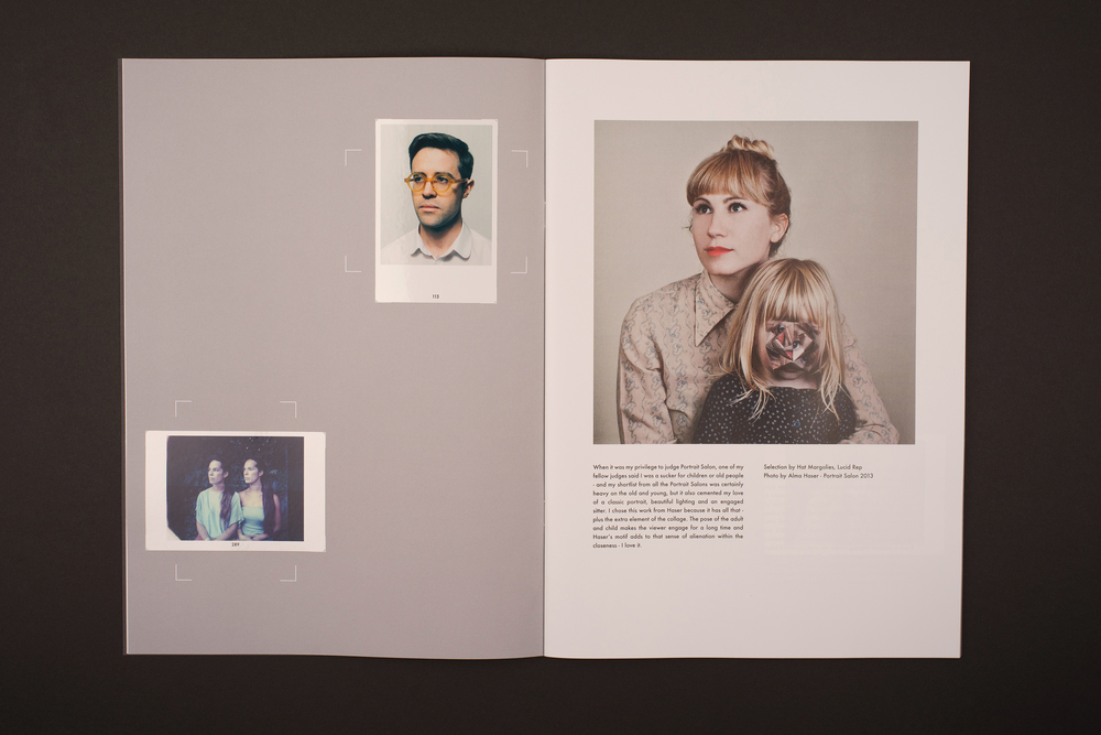 Portrait Salon 2015, 5th year anniversary. Sticker book. Main Photograph by Alma Haser.