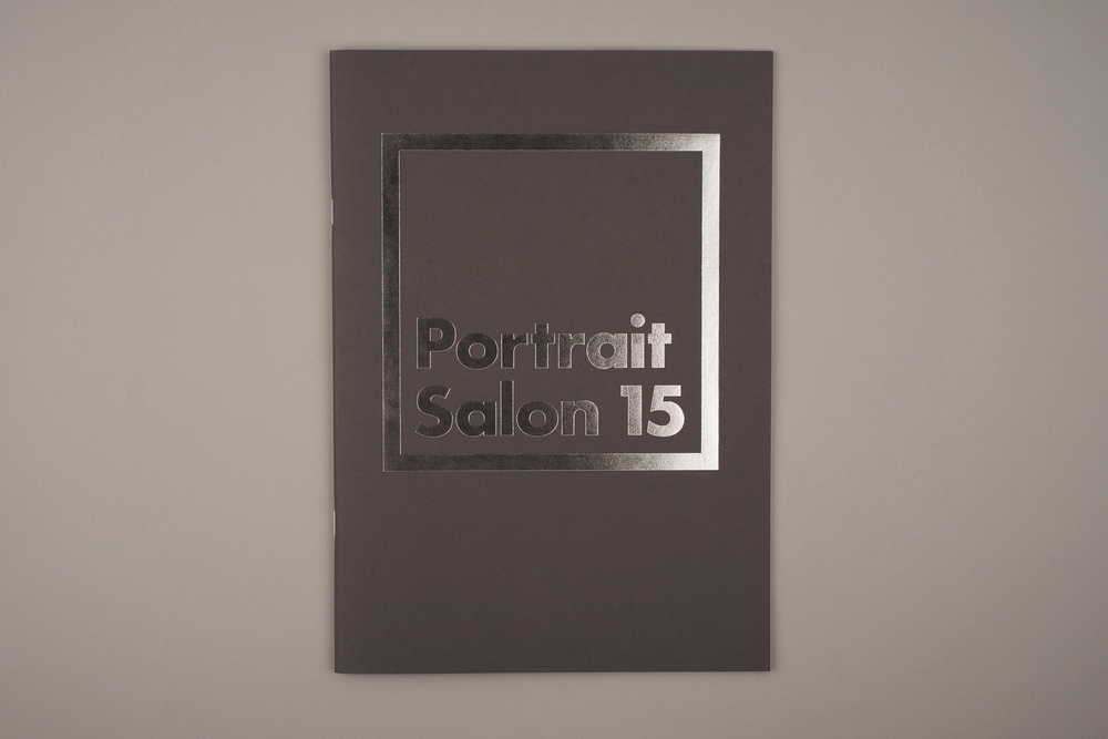 Portrait Salon 2015, 5th year anniversary. Sticker book. Foil Embossed Cover.
