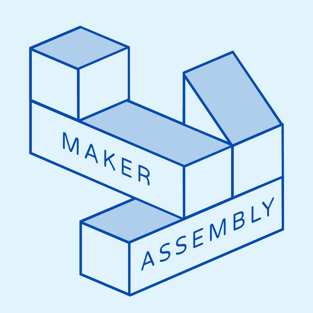 Maker Assembly logo, blue