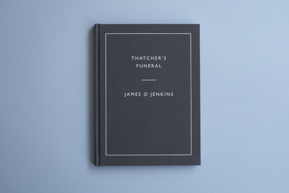 Thatcher's Funeral book by photographer James O Jenkins. Foil embossed hard cover.