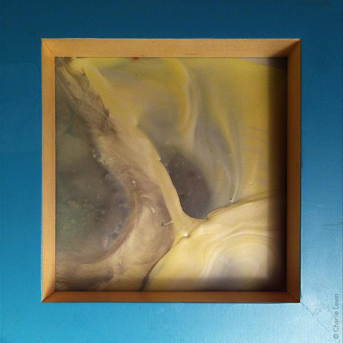 encaustic on glass
