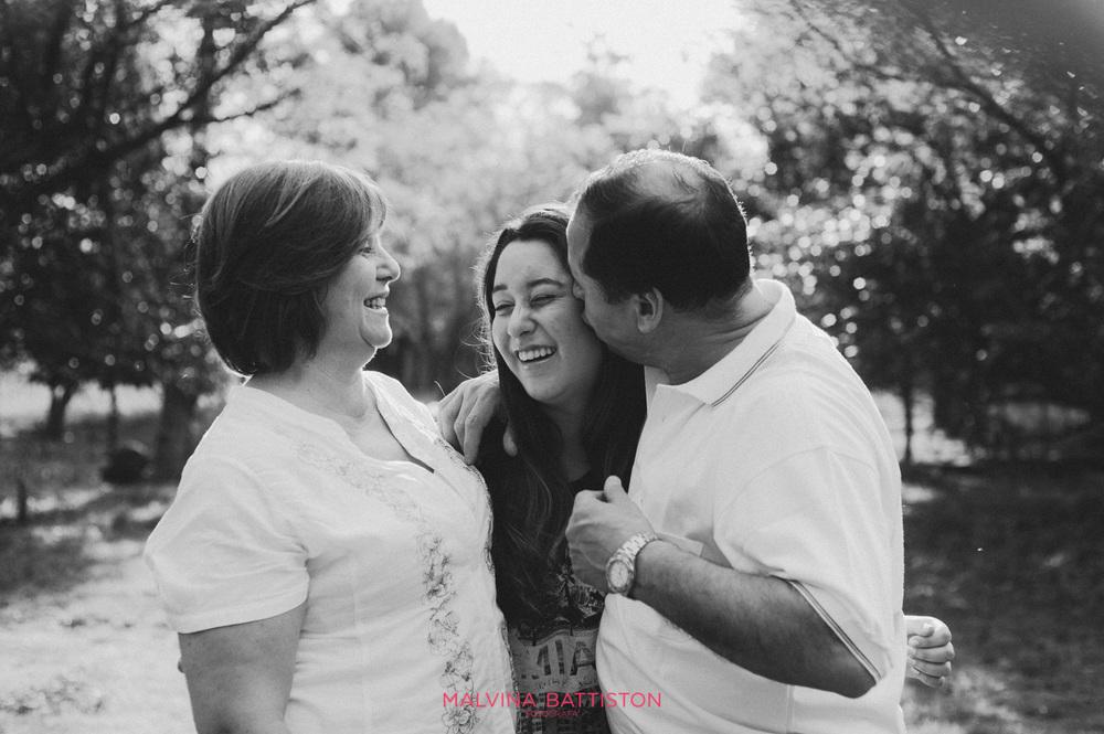 sesión de 15 años con padres