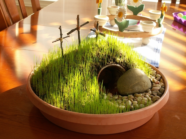 This year's craft: a Resurrection Garden!