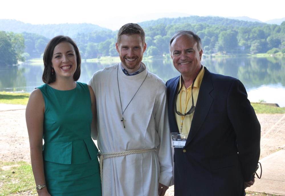 (from left: Kate Timberlake, Rev. Louis Timberlake, Rev. Michael F. Bailey)