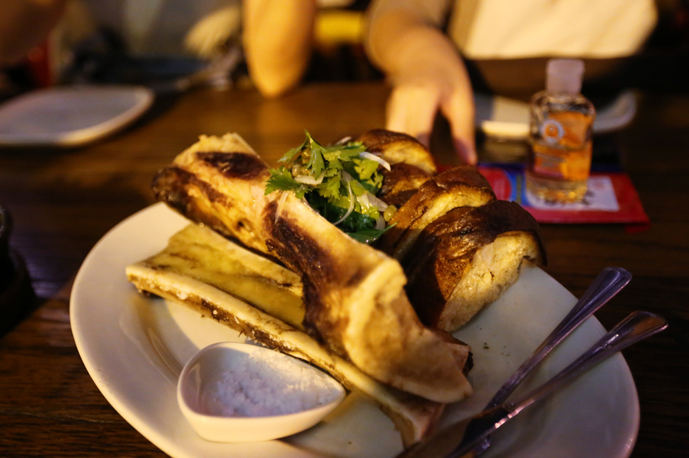 Roasted Bone Marrow with Herbs