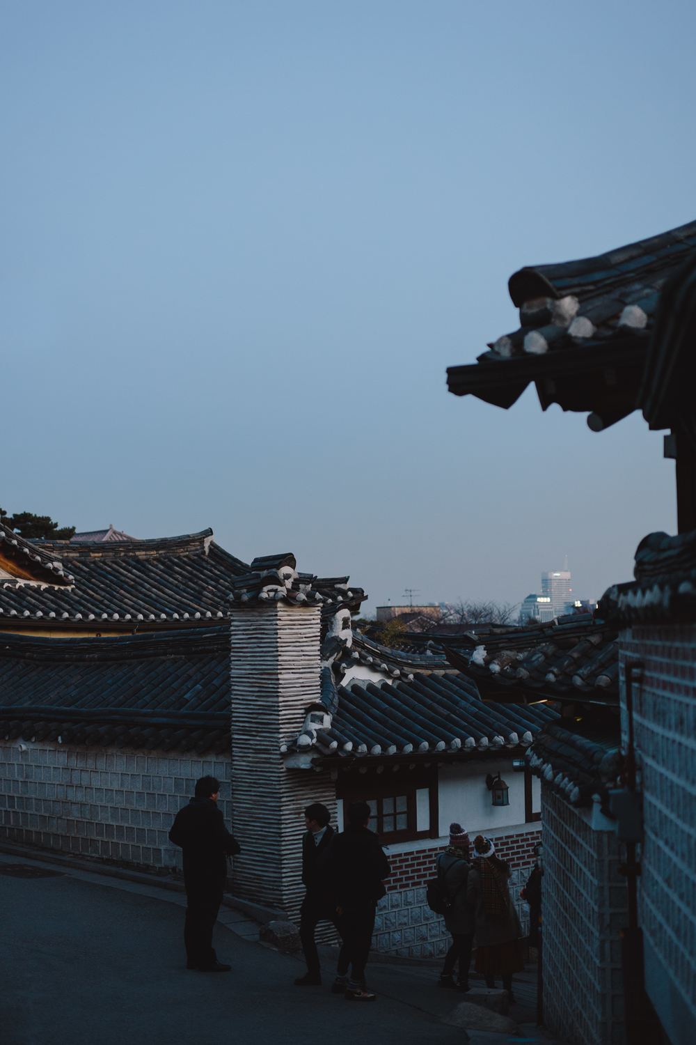 Winter in Seoul: Bukchon Hanok Village (북촌한옥마을), Seoul, South Korea.