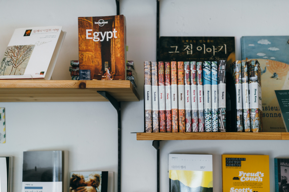 Greysuitcase Seoul Series: Stop For Now Travel Bookstore (여행책방 일단멈춤), Yeonmi-dong, Seoul, South Korea.